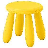 МАММУТ Табурет детский желтый, фото 1