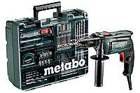 Дрель ударная сетевая плюс набор оснаски METABO SBE 650