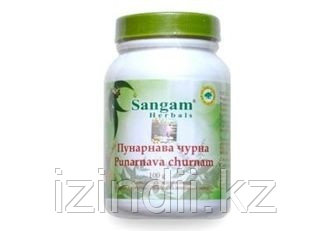 Пунарнава чурна, 100 гр, Punarnava churnam, Sangam Herbals