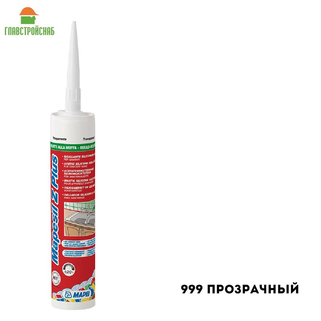 Mapesil Z PLUS силиконовый герметик для внутренних работ 999 прозрачный