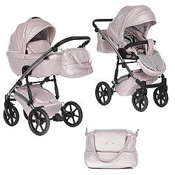 Детская коляска Pituso Pituso Cristal 2 в 1 Розовая, Рама Silver