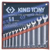 """Набор комбинированных ключей, 1/4""""-15/16"""", 11 предметов KING TONY 1211SR"""