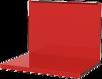 Полка/стенка для бестумбового и двухтумбового верстака, красная FERRUM 01.500-3000