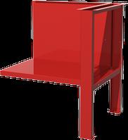 Полка/стенка и верстачная опора для однотумбового верстака, красная FERRUM 01.501-3000
