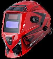 Маска сварочная Optima Team 9.13 Red, регулируемый фильтр FUBAG 38075