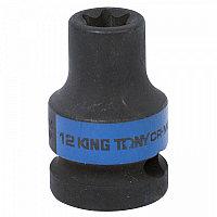 "Головка торцевая ударная TORX Е-стандарт 1/2"", E12, L = 38 мм KING TONY 457512M"
