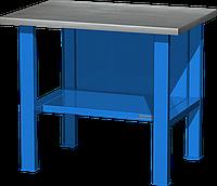 Верстак слесарный, бестумбовый, оцинкованная столешница, синий FERRUM 01.001G-5015