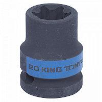 "Головка торцевая ударная TORX Е-стандарт 1/2"", E20, L = 38 мм KING TONY 457520M"