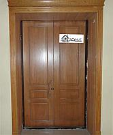 Дверь металлическая двухстворчатая на заказ