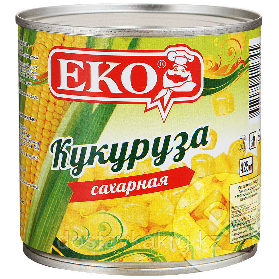 Кукуруза консервированная «Экос» 425 мл