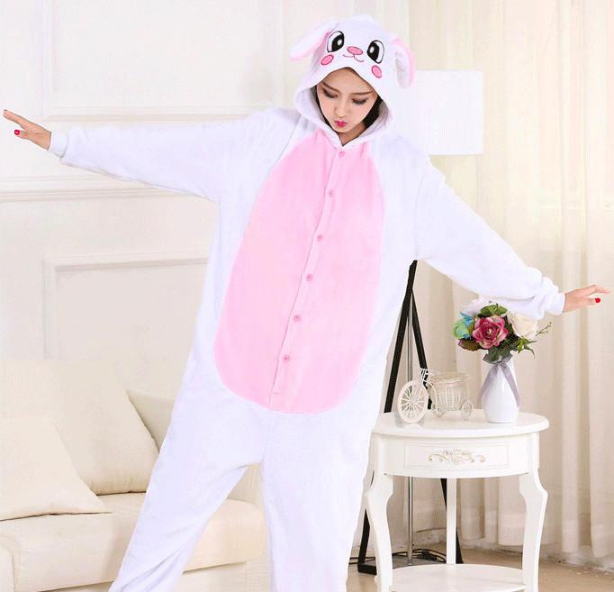 Кигуруми Зайчик бело-розовый детский
