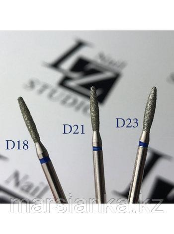 Бор алмазный 244.524.018 (пламя синее с тупым концом) VLADMIVA, фото 2