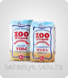 Мука ТМ «100 пудов» 1/с 2кг