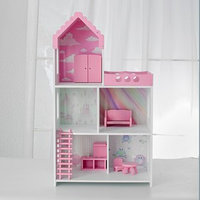 Кукольный дом 'Бисквит' с обоями и набором мебели