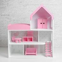 Кукольный дом 'Мармелад' с обоями и набором мебели