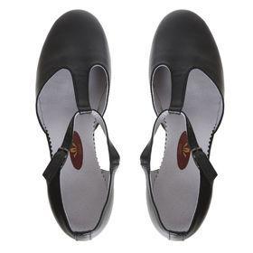 Туфли репетиторские женские, длина по стельке 24,5 см, цвет чёрный - фото 3
