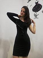 Платье чёрное на одно плечо