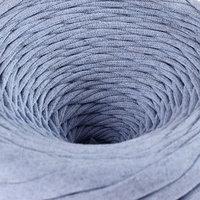 Пряжа трикотажная широкая 'Saltera' 100м/300гр, ширина 7-9 мм (107 голубой меланж)