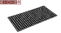 Коврик 100x150x1,6 см (Индия) резиновый ячеистый грязесборный черный