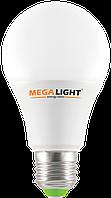 """LED ЛАМПА A60 """"Standart"""" 10W 900Lm 230V 4000K E27 MEGALIGHT (100)"""