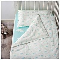 ХИММЕЛЬСК Комплект постельного белья, 3 предм, бирюзовый, фото 1