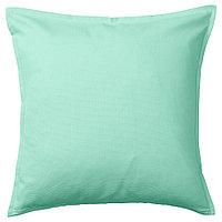 ГУРЛИ Чехол на подушку, светлый бирюзово-зеленый, фото 1
