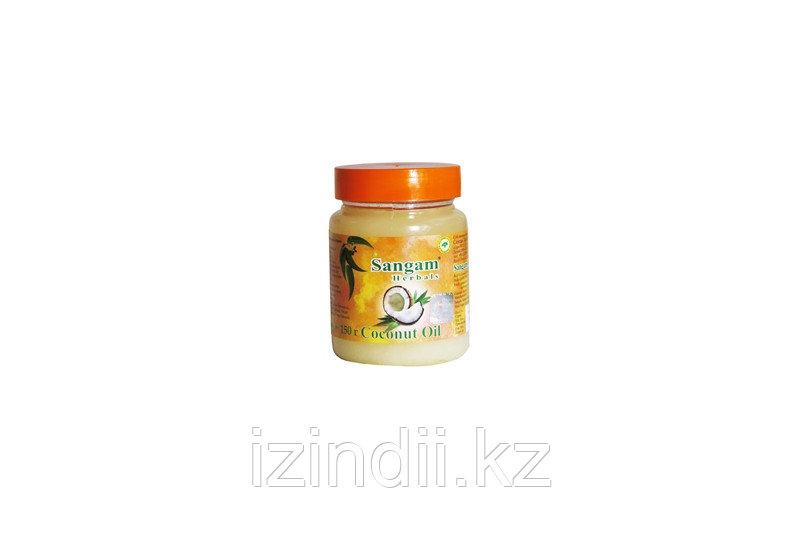 Кокосовое масло нерафинированное, холодного отжима, пищевое ,150 мл, Coconut Oil, Sangam