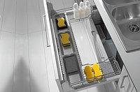 Выдвижная корзина 900 П-образная под мойку выдвижная с доводчиком, отделка хром, фото 1