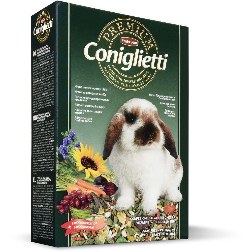 Корм для взрослых кроликов и молодняка, Padovan Premium Coniglietti - 500 г