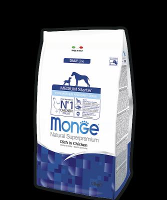 Корм Monge Medium Senior для пожилых собак средних пород (Курица) - 3 кг