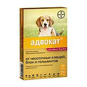 Капли на холку Адвокат для собак от 10 до 25 кг, Bayer - 3 пип. по 2.5 мл