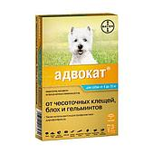 Капли на холку Адвокат для собак от 4 до 10 кг, Bayer - 3 пип. по 1 мл