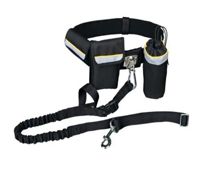 Поводок с поясом для бега с собакой - 1.00-1.35 m/25 mm