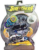 Screechers Wild: Машинка-трансформер Смоки, черно-белый