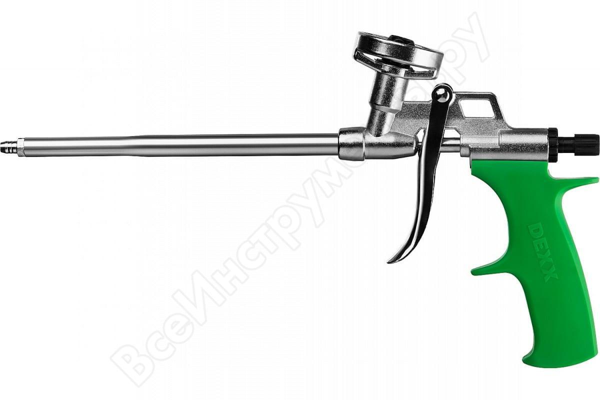 """(06868_z01) Пистолет для монтажной пены """"PRO METAL"""", металлический корпус, регулировка подачи пены, DEXX"""