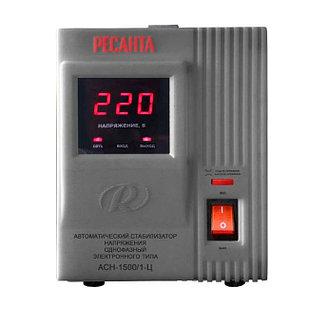 Стабилизатор напряжения РЕСАНТА ACH-1500/1-Ц  Однофазный, Релейный