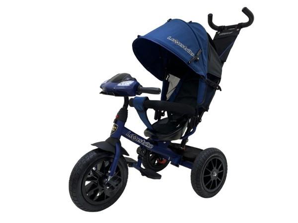 Велосипед 3-х колесный Lexus Trike с музыкальной панелью, темно-синий