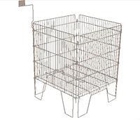 Корзина для распродаж напольная c регулируемым дном и ценникодержателем (610х610х780 мм) крашенный арт. NS61, фото 1