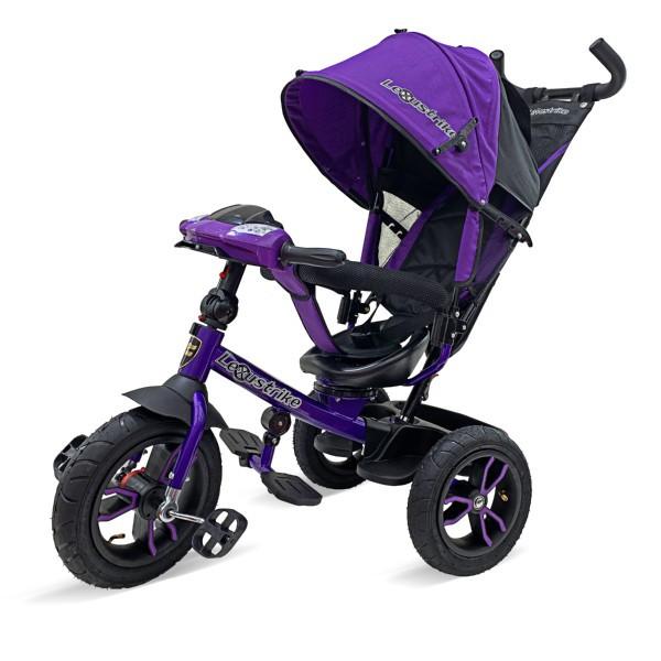 Велосипед 3-х колесный Lexus Trike с музыкальной панелью, фиолетовый