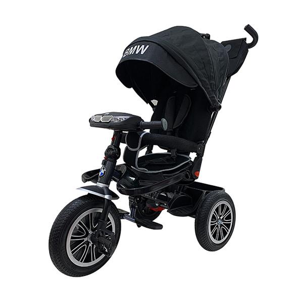 Велосипед BMW 3-х колесный с поворотным сиденьем и музыкальной панелью, черный