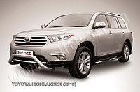 """Кенгурятник d76 низкий """"мини"""" Toyota Highlander 2011-13"""