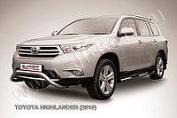 """Кенгурятник d57 низкий """"мини"""" Toyota Highlander 2011-13"""