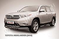 Защита переднего бампера d57+d57 с профильной ЗК Toyota Highlander 2011-13