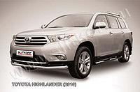 Защита переднего бампера d57 длинная Toyota Highlander 2011-13
