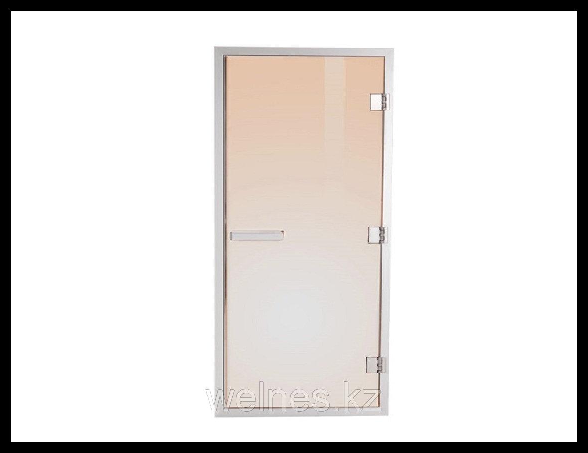 Дверь для хамама Steam Bronze 7х19 (короб - алюминий, стекло - бронза, с порогом)