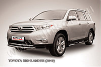 Защита переднего бампера d57 радиусная Toyota Highlander 2011-13