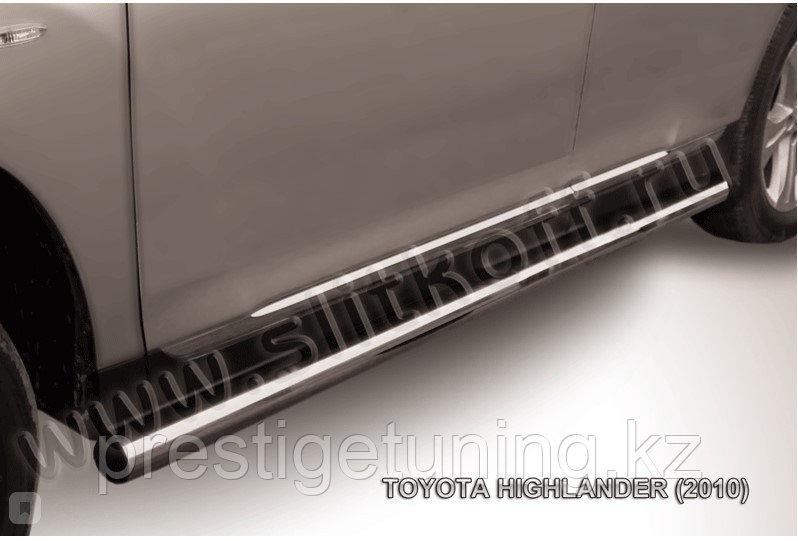 Защита порогов d76 труба Toyota Highlander 2011-13