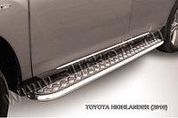 Защита порогов d57 с листом Toyota Highlander 2011-13