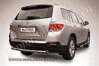 Защита заднего бампера d57 радиусная Toyota Highlander 2011-13