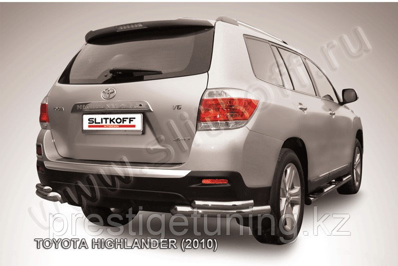 Уголки d57+d42 двойные Toyota Highlander 2011-13